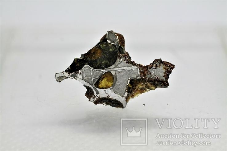 Залізо-кам'яний метеорит Springwater 1,36 г, з сертифікатом автентичності, фото №2