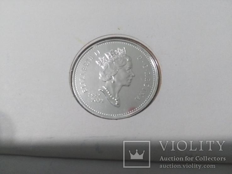 1 Доллар 2002 50 лет правлению Королевы Елизаветы II (Серебро 0.925, 25.18г), Канада, фото №4