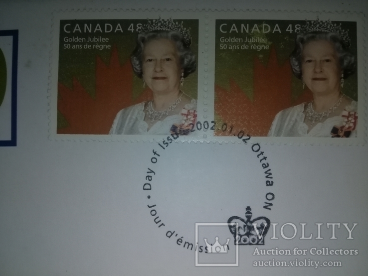 1 Доллар 2002 50 лет правлению Королевы Елизаветы II (Серебро 0.925, 25.18г), Канада, фото №11