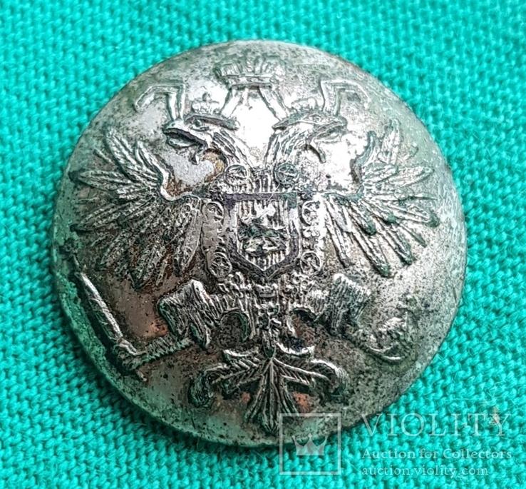 Пуговица орел в серебре, фото №2