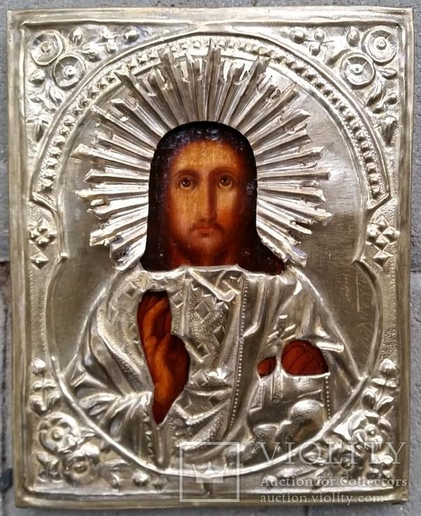 Ікона Ісус Христос, латунь, 18,0х14,6 см, фото №2
