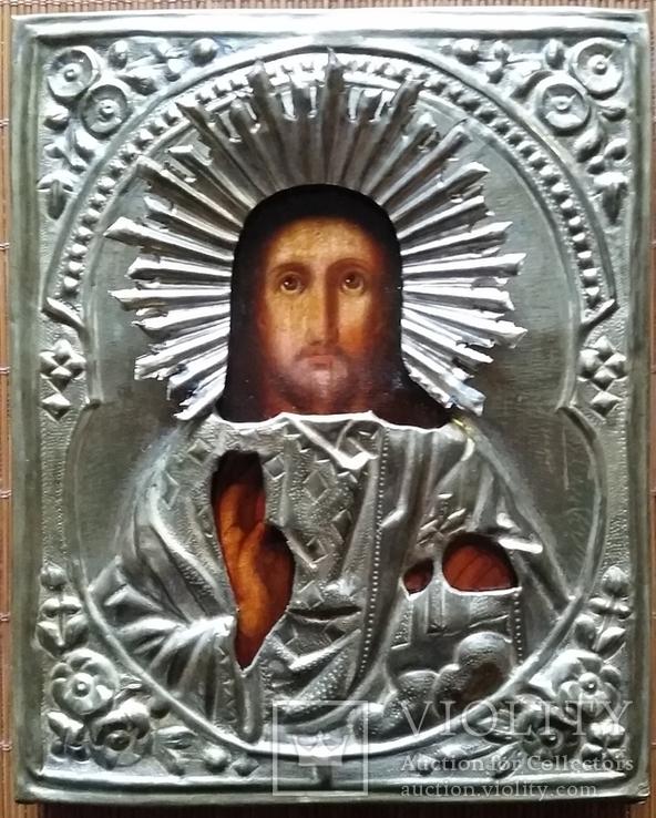 Ікона Ісус Христос, латунь, 18,0х14,6 см, фото №3
