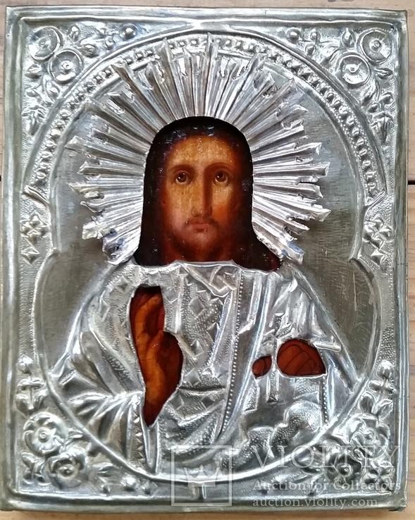 Ікона Ісус Христос, латунь, 18,0х14,6 см, фото №4