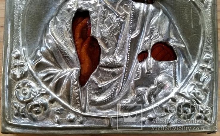 Ікона Ісус Христос, латунь, 18,0х14,6 см, фото №7