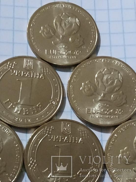 1 ГРИВНЯ ЕВРО 2012- 10 монет из ролла., фото №5