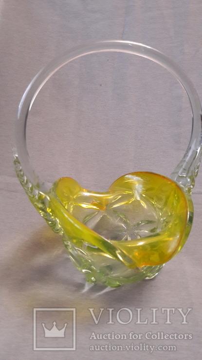 Фруктовница, конфетница цветное стекло. Большая ., фото №6