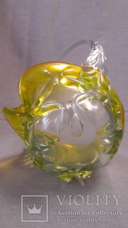 Фруктовница, конфетница цветное стекло. Большая ., фото №11