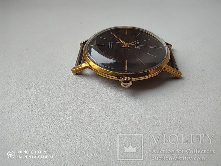 Часы Poljot de luxe 1 МЧЗ. 23 jewels  made in USSR . Полет плоский Au20, фото №5