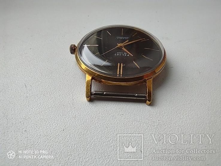 Часы Poljot de luxe 1 МЧЗ. 23 jewels  made in USSR . Полет плоский Au20, фото №6