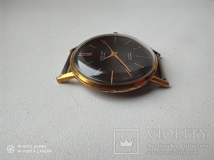 Часы Poljot de luxe 1 МЧЗ. 23 jewels  made in USSR . Полет плоский Au20, фото №7