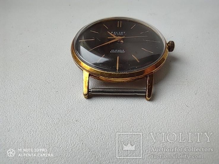 Часы Poljot de luxe 1 МЧЗ. 23 jewels  made in USSR . Полет плоский Au20, фото №8