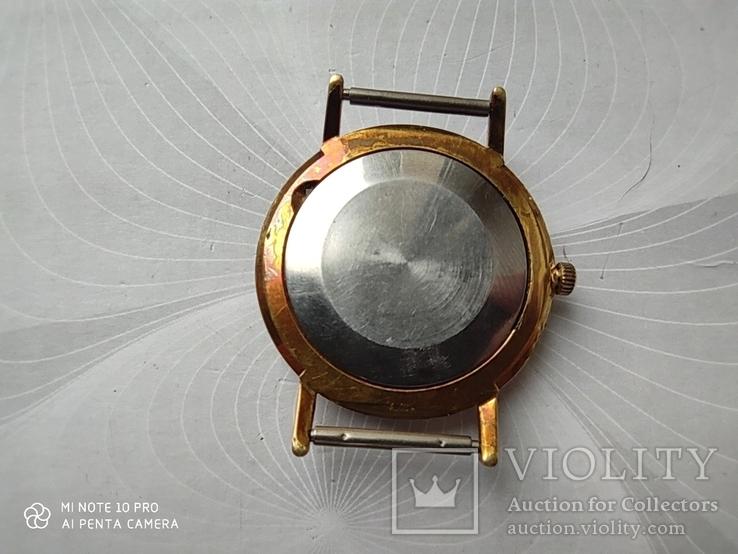 Часы Poljot de luxe 1 МЧЗ. 23 jewels  made in USSR . Полет плоский Au20, фото №9