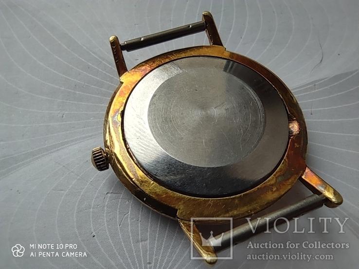 Часы Poljot de luxe 1 МЧЗ. 23 jewels  made in USSR . Полет плоский Au20, фото №11