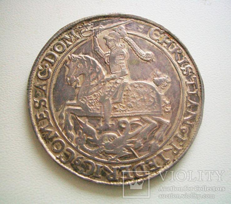Мансфельд, талер 1664 года, фото №2