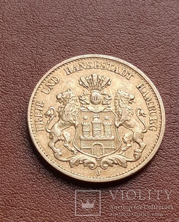 Золото 20 марок 1897 Гамбург Германия