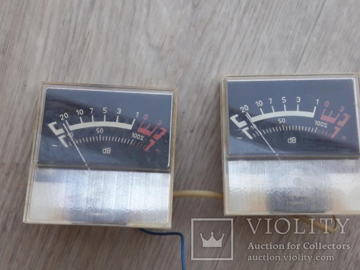 Индикаторы М68502 магнитофона СОЮЗ - 110 ( СОЮЗ-111 ) черные, пара, фото №2