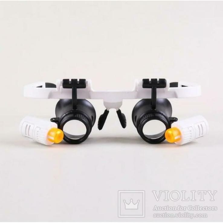 Бинокулярные очки с LED подсветкой 9892RD Увеличение: 6x/10x/25x, фото №3