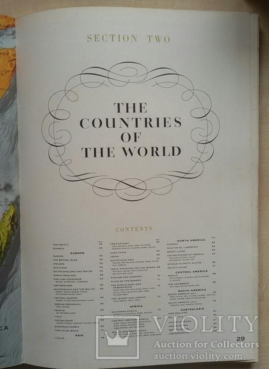 Большой атлас мира на английском переиздание 1969 год, фото №6