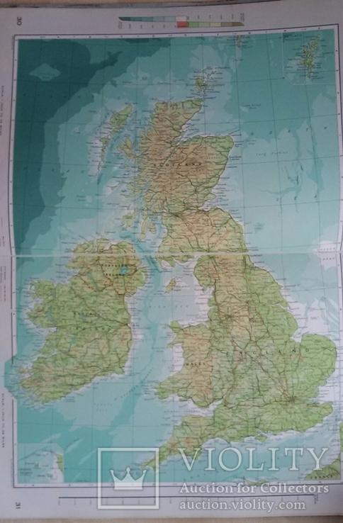 Большой атлас мира на английском переиздание 1969 год, фото №7