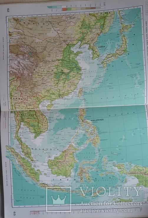 Большой атлас мира на английском переиздание 1969 год, фото №8