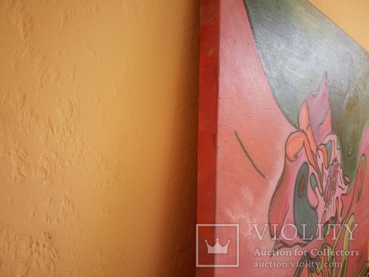 Цветок 45х55см масло, холст, фото №8