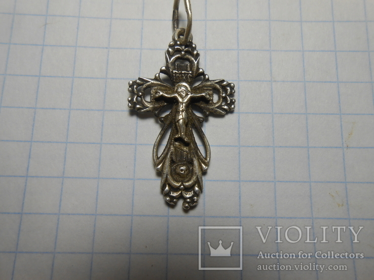 Крестик нательный Серебро 925 Вес - 1,64 грамм, фото №4