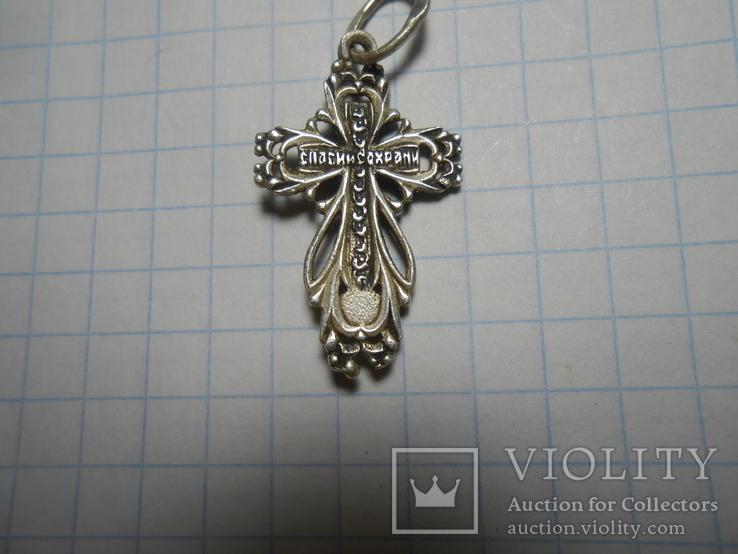 Крестик нательный Серебро 925 Вес - 1,64 грамм, фото №7