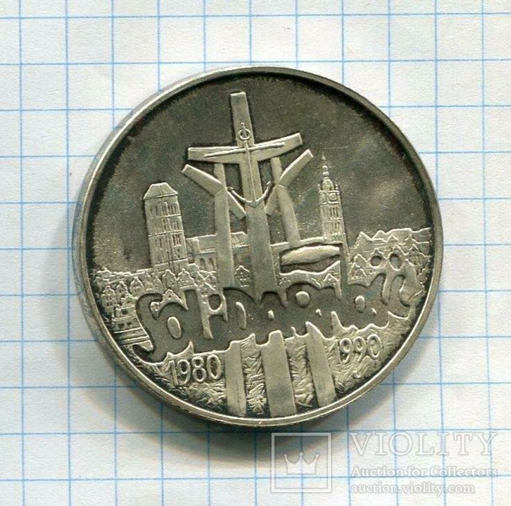 Польша 100000 злотых 1990 аUNC Солидарность, фото №2