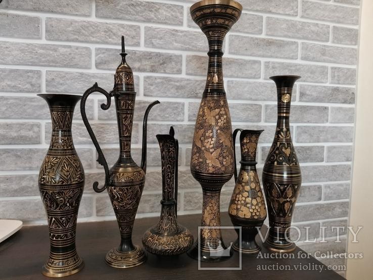 Набор ваз. Индия., фото №2