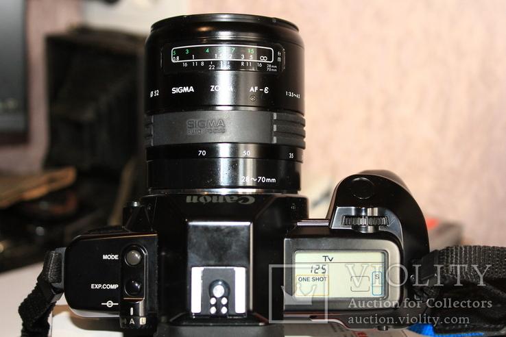 Фотоаппарат CANON 650( Sigma 3.5-4.5/28-70мм ), фото №7