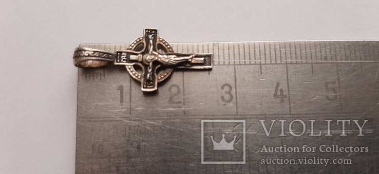 Серебряный (925) крестик  1,39  гр., фото №9