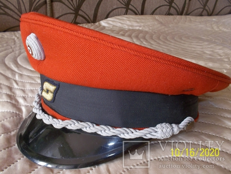Фуражка поездного диспетчера Австрийских федеральных железных дорог   раз. 56., фото №2