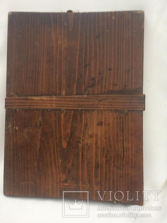 Ікона Богородиці,на дерев'яній дошці., фото №8