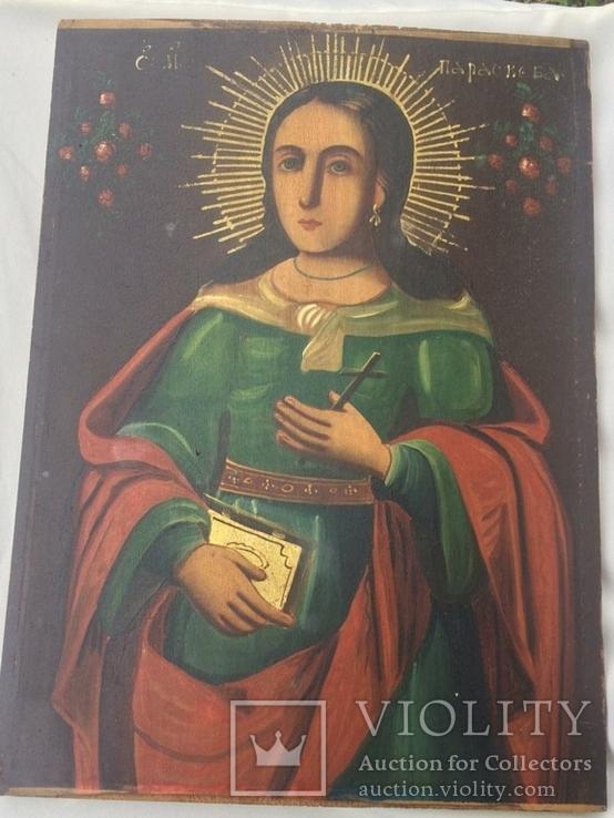 Ікона Богородиці, на дерев'яній дошці., фото №2