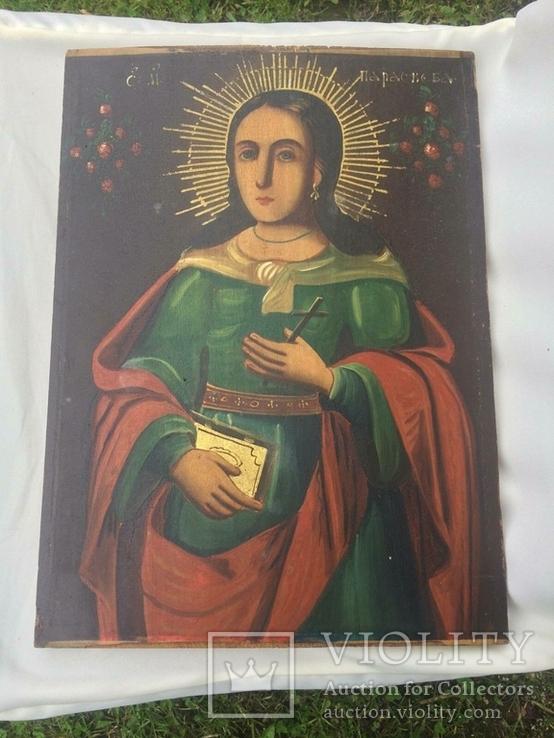 Ікона Богородиці, на дерев'яній дошці., фото №3