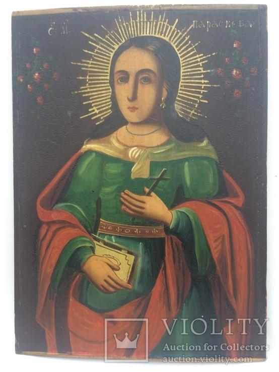 Ікона Богородиці, на дерев'яній дошці., фото №4