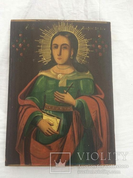 Ікона Богородиці, на дерев'яній дошці., фото №6