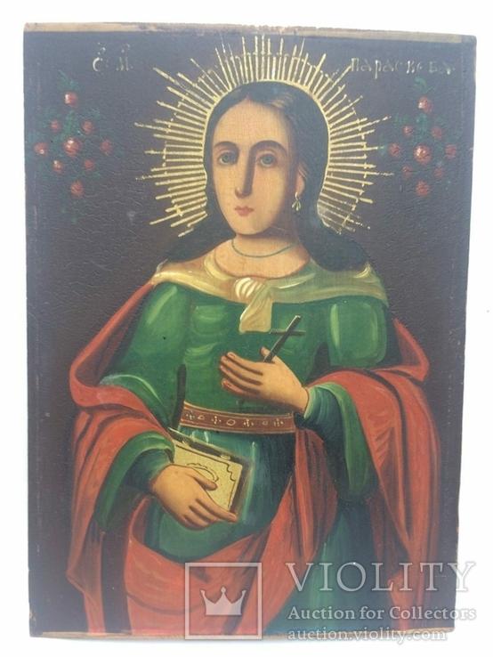 Ікона Богородиці, на дерев'яній дошці., фото №7
