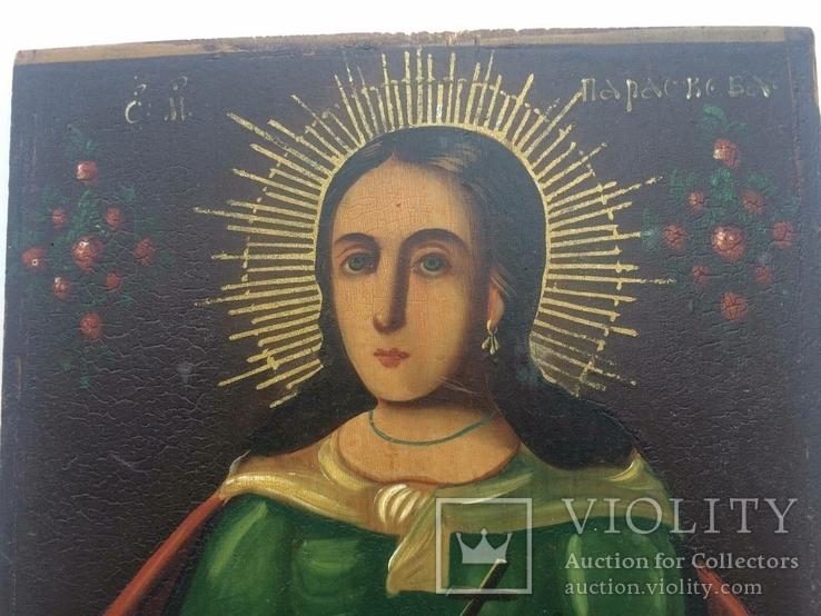 Ікона Богородиці, на дерев'яній дошці., фото №8