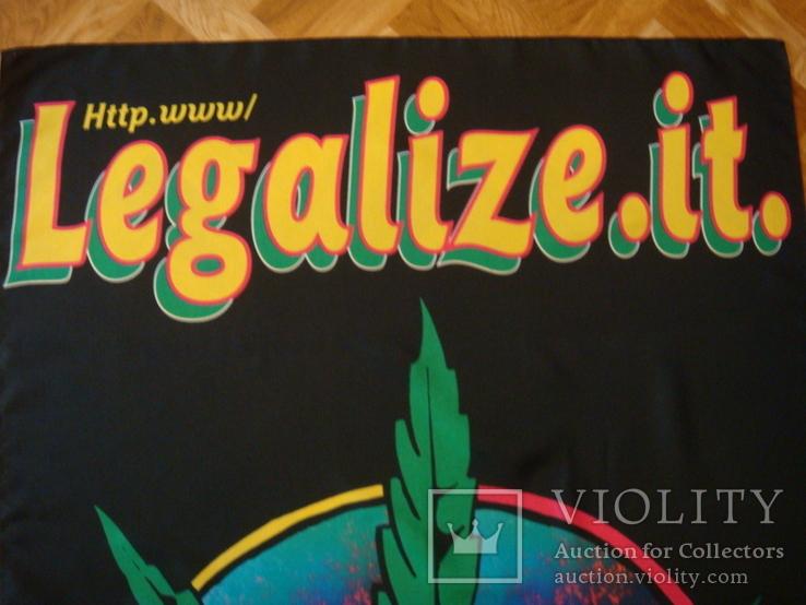 Плакат на ткани или флаг Конопля 1996 год, фото №5