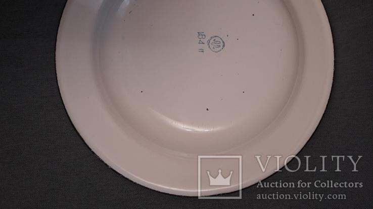 Тарелка эмалированная с узором, фото №8