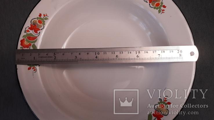 Тарелка эмалированная с узором, фото №10