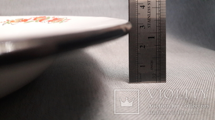 Тарелка эмалированная с узором, фото №11