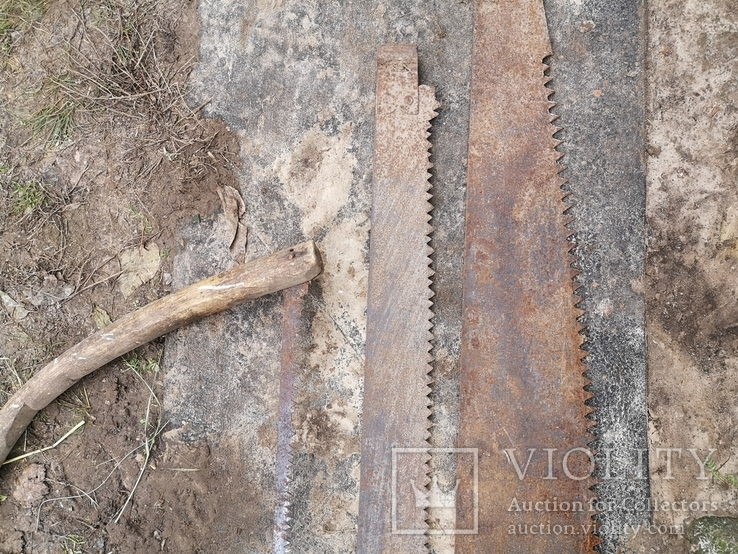 Пилы дружба двуручные старые СССР 3 штуки промысел реманент плотничество, фото №11