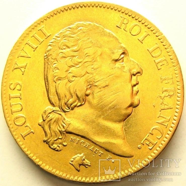 Франция 40 франков 1824 г.