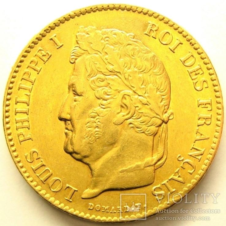 Франция 40 франков 1834 г.  Байонна