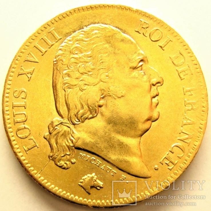 Франция 40 франков 1818 г.