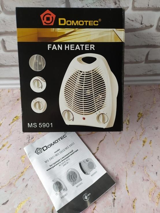 Тепловентилятор, электрообогреватель, дуйка Domotec MS 5901 мощностью 2000 Вт, фото №10