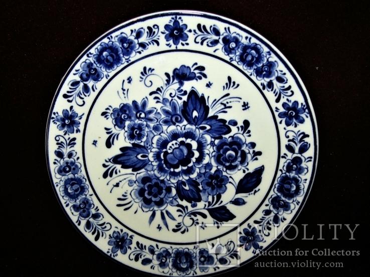 Настенная тарелка клеймо DELFTs Делфт Голландия, фото №2