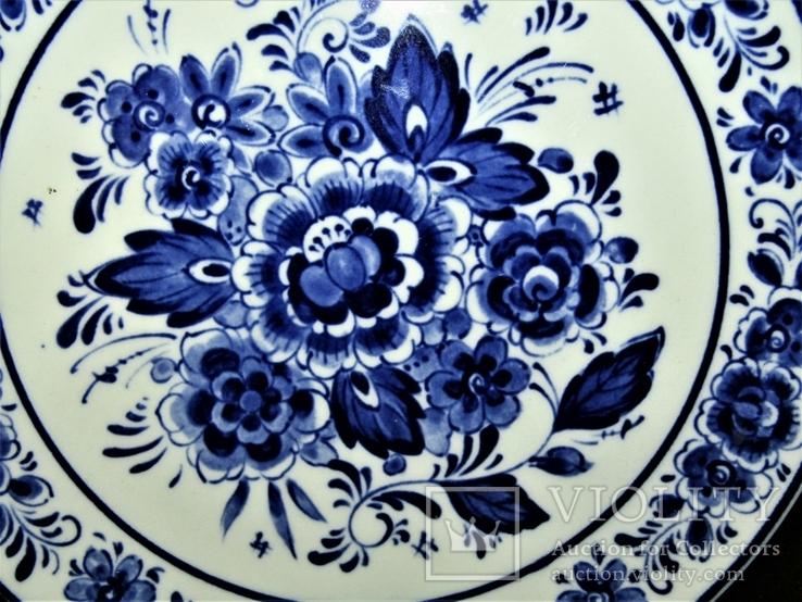 Настенная тарелка клеймо DELFTs Делфт Голландия, фото №5